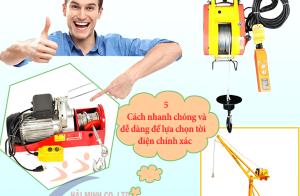 5 Cách nhanh chóng và dễ dàng để lựa chọn tời điện chính xác