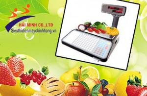 Tư vấn chọn mua cân điện tử in tem nhãn cho cửa hàng trái cây sạch