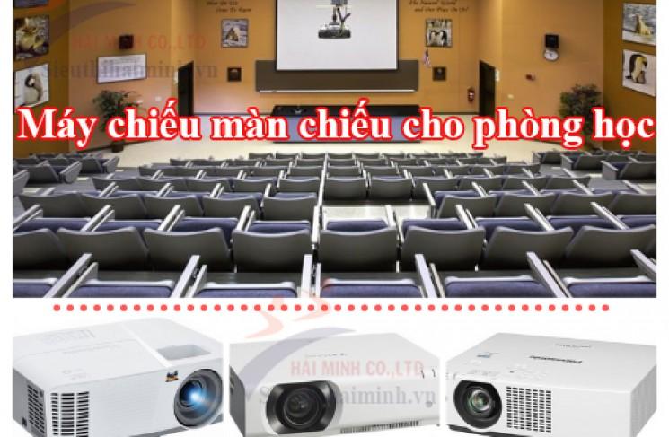 Lắp bộ máy chiếu màn chiếu cho phòng học