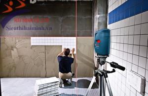 Máy cân mực laser - Tiết kiệm hiệu quả thời gian thi công
