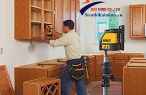 Hướng dẫn lắp đặt tủ bếp với máy cân bằng laser đơn giản