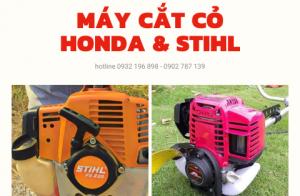 So sánh máy cắt cỏ Honda và máy cắt cỏ Stihl