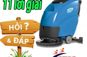 11 câu hỏi trọng điểm về máy chà sàn được giải đáp