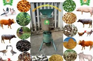Thực đơn dinh dưỡng mỗi ngày cho vịt bằng máy chế biến thức ăn chăn nuôi đa năng