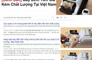 [Cảnh Báo] Máy Đếm Tiền Giả Kém Chất Lượng Tại Việt Nam