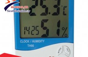 Đo nhanh độ ẩm, nhiệt độ trong nhà với máy đo độ ẩm không khí cầm tay HMTH90