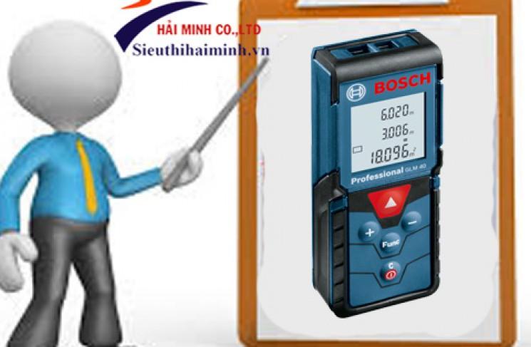 Hướng dẫn sử dụng máy đo khoảng cách Bosch GLM 40