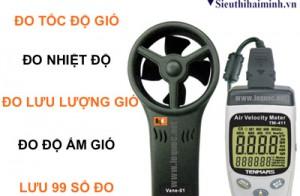 Top 6 máy đo tốc độ gió giá rẻ thương hiệu Tenmars tại Hải Minh