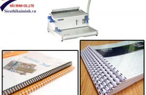 Cách đóng sách, tài liệu, menu bằng máy đóng sách lò xo nhựa và kẽm