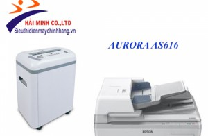 Test máy hủy tài liệu aurora AS616