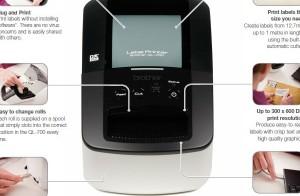 Máy in nhãn brother : Hướng dẫn kết nối cáp USB và khởi động P-Touch Editor Lite