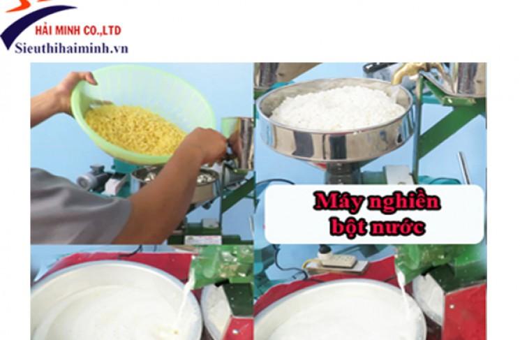 Làm bột gạo, bột nếp cực đơn giản với máy nghiền bột gạo nước