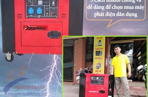 5 Cách nhanh chóng và dễ dàng để chọn mua máy phát điện dân dụng