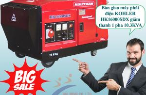 Bàn giao máy phát điện KOHLER HK16000SDX giảm thanh 1 pha 10.3KVA