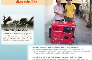 Hỗ trợ giá các dòng máy phát điện mùa bão