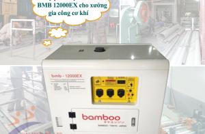 Máy phát điện Bamboo BMB 12000EX cho xưởng gia công cơ khí
