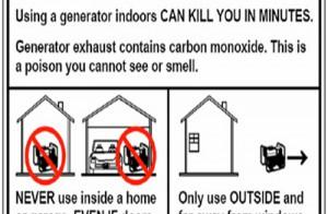 Cảnh báo an toàn sử dụng máy phát điện