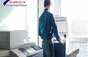 Tôi đã hoàn thành công việc sao chép, in ấn dễ dàng bằng việc sử dụng máy photocopy