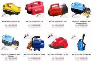 Báo giá máy bơm rửa xe cao áp Oshima năm 2020 - phần 2