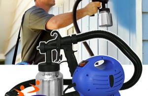 Sử dụng máy phun sơn trong công nghiệp xây dựng