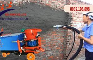 Tìm hiểu máy phun vữa trát tường